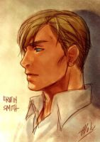 Doodlez study Erwin Smith by Wolvtrune
