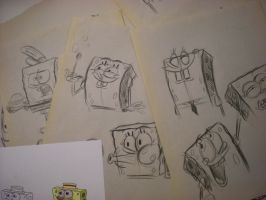 SPONGEBOB sketches! 004 by brianpitt
