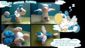 Shleepy Gryphie Plushie by TheFluffehGryphon