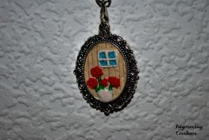 Only a idea (necklace part) by PolymerclayCreations