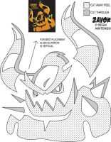 Zavok Jack-O-Lantern Stencil by Rally-the-Cheetah