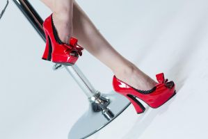 Red Pump by Ariane-Saint-Amour