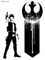 Han Solo Rebel for life by artist Tom Kelly by TomKellyART