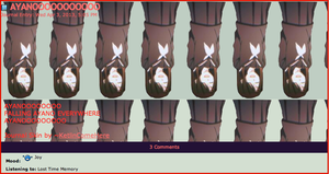 Falling Ayano Journal Skin by KetlinComeHere