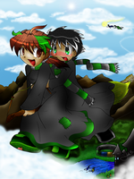 Yank and Ladon by souerlemon by Hogwarts-Castle