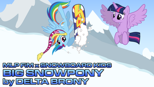 [MLP FiM x Snowboard Kids] Big Snowpony by DashieMLPFiM