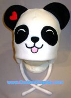 Panda with hearts hat by The-Cute-Storm