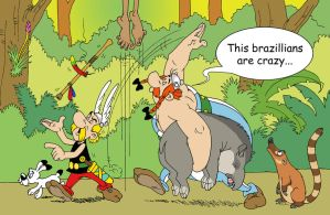 Asterix and Obelix in Brazil by Felipenn