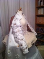 WIP Ditchley gown - close-up sleeve by Firefly182