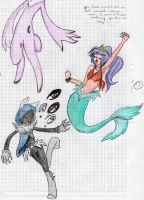 the bunny,the merm and bb by figaroo