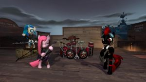 Hazard and the Band 1 - Darkside Duo by Drakon-Fireblade