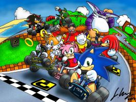 Sonic Kart. by Joker-laugh