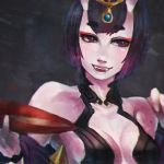 90 Minute Doodles - Shuten-doji by MonoriRogue
