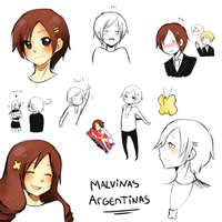 LH - Sketches Malvinas by chiaky
