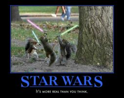 Star wars: jedi squirrels by Weirddudeguy