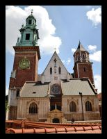 Towers Of Cathedral, Castle Wawel, Cracow by skarzynscy
