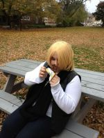 Mello and his chocolate XD by L-luvs-cake