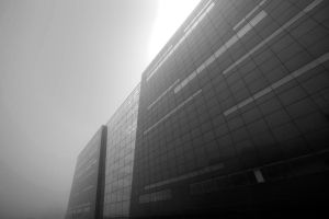 Royal Danish Library in the Fog by luethy