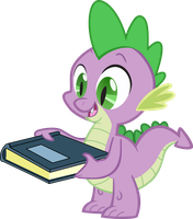 Spike Holding Book by Spyro4287