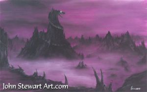 He-Man Painting of Snake Mountain by johnstewartart