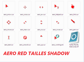Aero Red Tailless Cursors by Edercoree