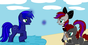 Shiny Crystal and DoomKeiser on Vacation by Imp344
