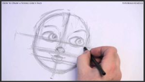 Learn How to Draw Young Girl's Face 008 by drawingcourse