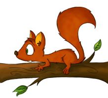 Red Squirrel by CookieCruise