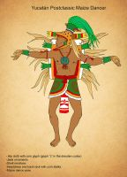 Yucatan Postclassic Maize Dancer by Kamazotz