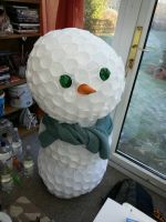 Plastic Cup Snow Man  by scarlett-stephanie