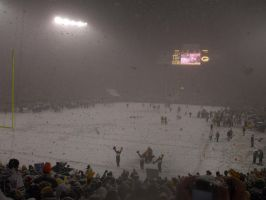Packers vs Seahawks blizzard by cheetahmikey