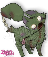 Zombie kitty by blondeeshadow