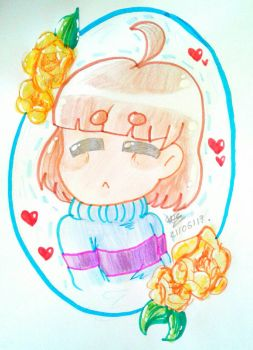 Frisk UNDERTALE by TheArtistGamer3
