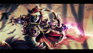 The Hunt: Sylvanas detail by s-scattered
