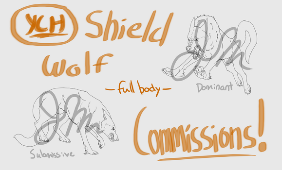 YCH full-body Shield Wolf Auction! [UPDATE] by Jennandra