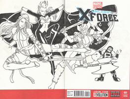 Uncanny X-force #1 by Num1XMN