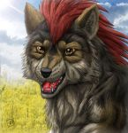 Smiley Wolf by SheltieWolf