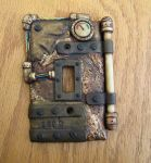 Steampunk switchplate by twistedcreaturesart