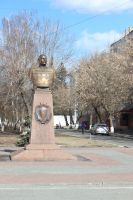 The monument of the hero Shumilov by FreedomeSoul88