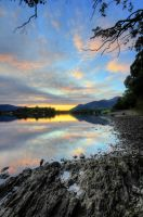 Sunset over Derwentwater by AngiWallace