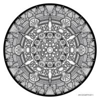 Mandala drawing 33 by Mandala-Jim