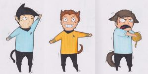 Star Trek Cats. by jjengo