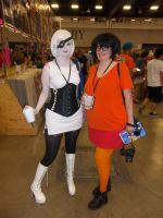 GLaDOS and Velma by The-1One