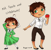 Spain and Chibimanoo by Baggie-chan
