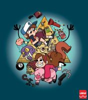 Gravity Falls T-Shirt Design by REGEN-1