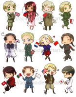 Axis Powers Hetalia: Stickers by aoineko