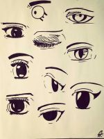 Anime Eyes #1 by ChyTheNeko