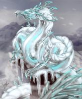 Ice Dragon by LadyMartina