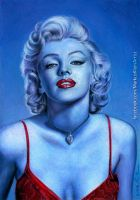 Blue Marilyn by LMan-Artwork