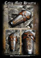 Celtic Male Armor : Bracers by Deakath
